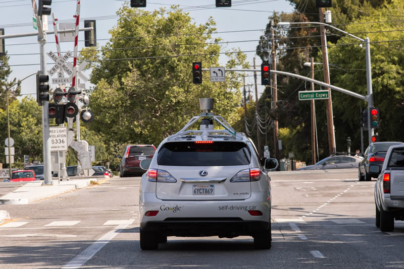 Autonomous Google cars are learning to drive in the city.
