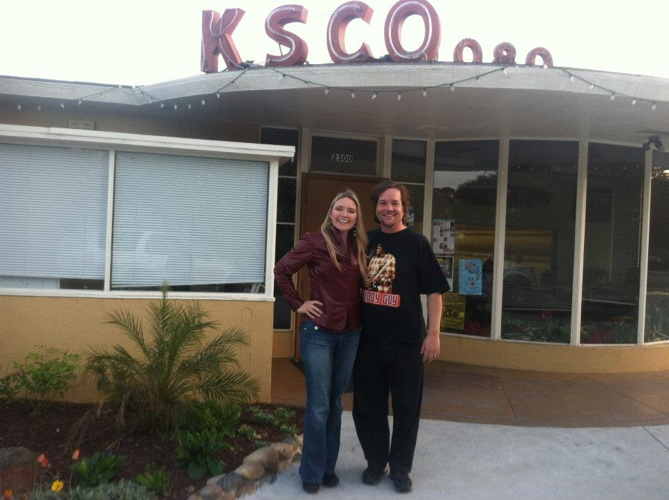 MC and Rockelle in Front of KSCO Studios